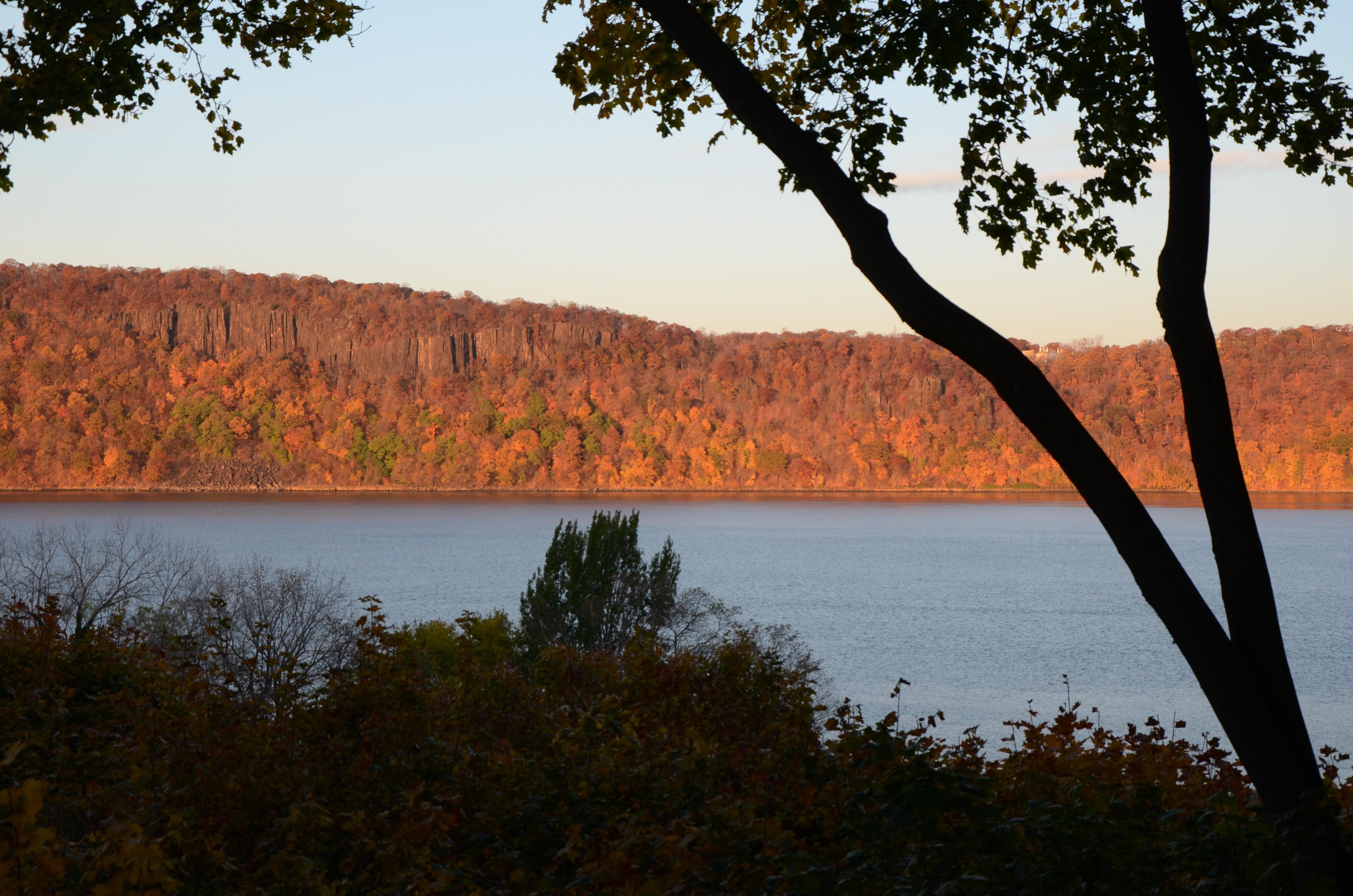 Hudson River Views Palisades Autumn Sunrise