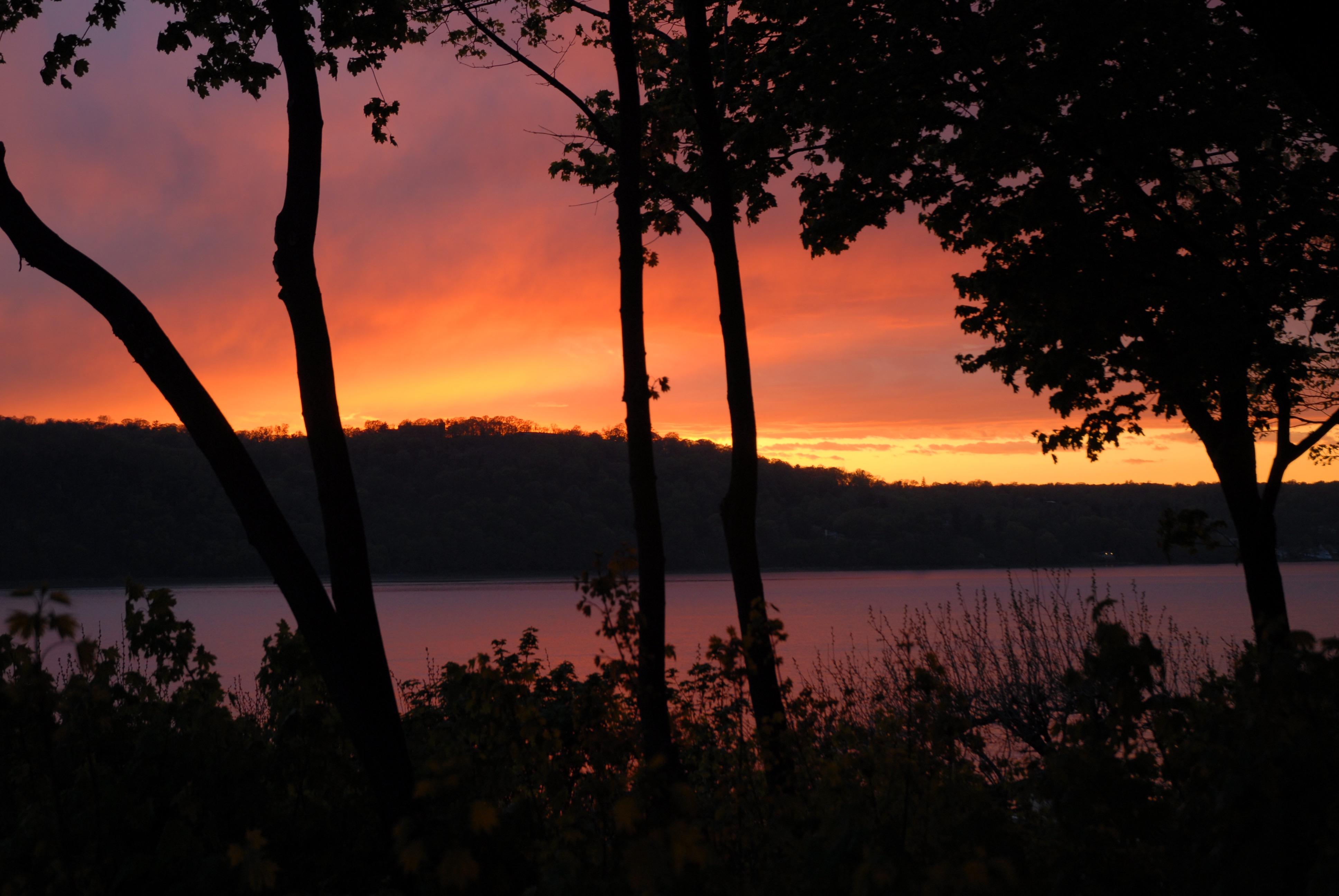 Hudson River Views Sunset 2